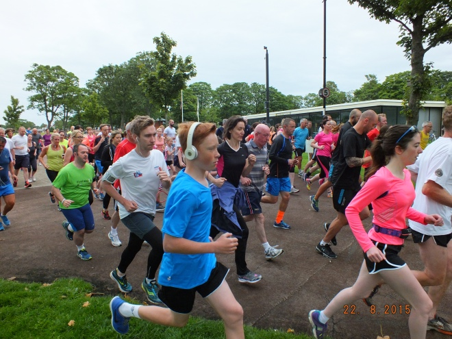 Widnes Parkrun start