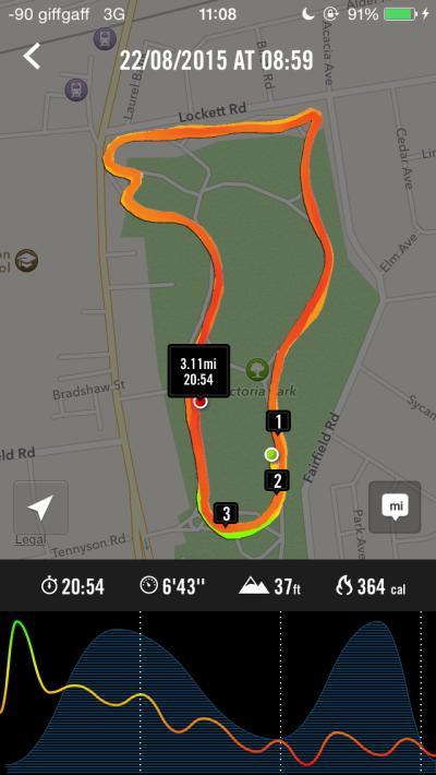 2015-08-22 - Widnes run